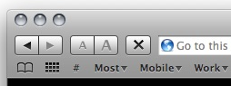 Reload/Stop Button in Safari 4 Public Beta