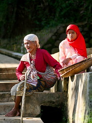 Two Generations (Perry-No LIMIT4Me) Tags: canon indonesia hijab westjava muslimcultures humaninterest eos5d kampungnaga