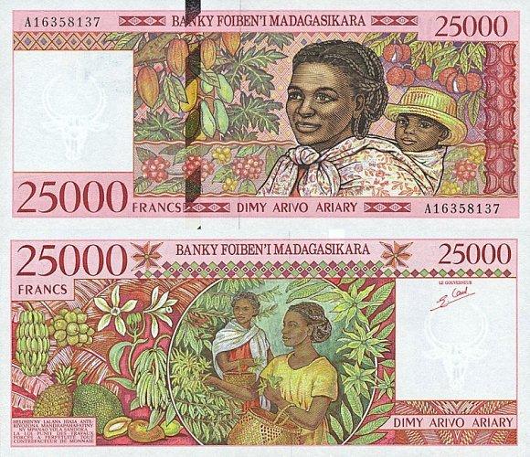 25 000 frankov Madagaskar 1998