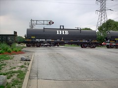 Southbound Indiana Harbor Belt coiled steel car in transit. Bridgeview Illinois. August 2007.