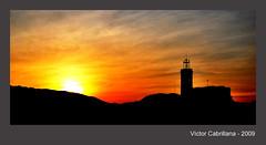 Castell de Sria (Vctor Cabrillana) Tags: puestadesol castell otw sria solatardecer