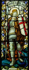 St George window, Llantrisant (robin.croft) Tags: church wales dragon stainedglass stgeorge greatwar llantrisant midglamorgan