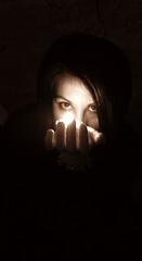 INPUT (niiin) Tags: light black me ego eyes hands zacapa rhum catchlight conceptualimage aplusphoto creattivit