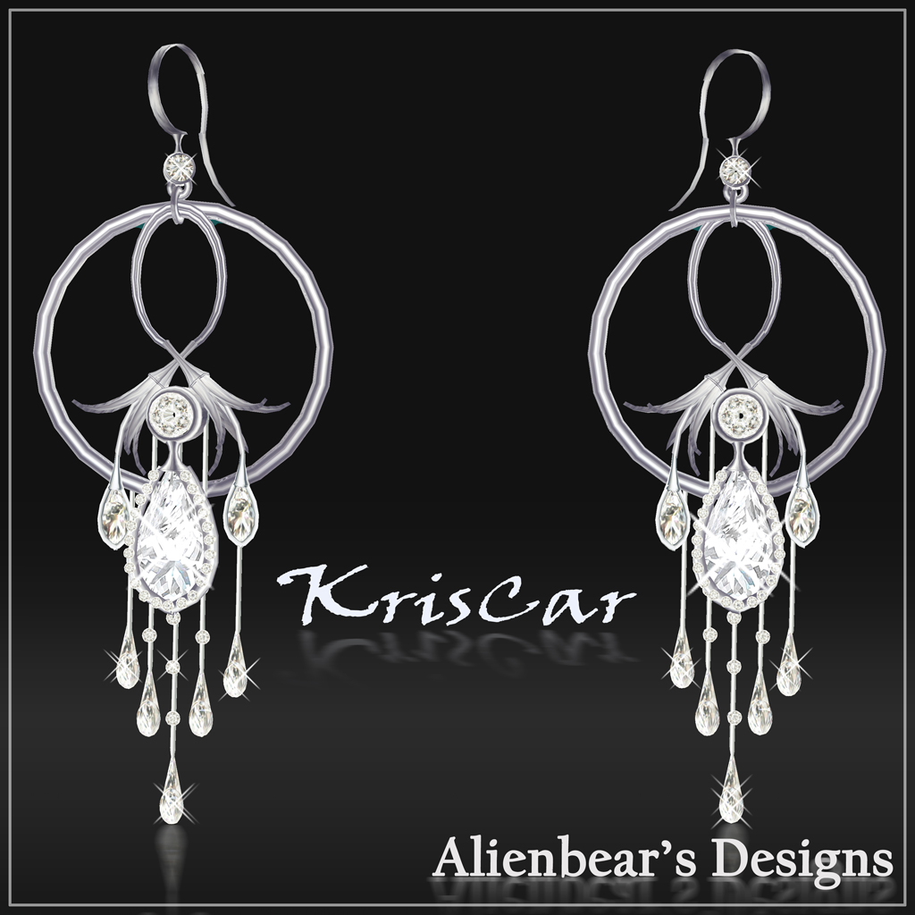 KrisCar earrings white