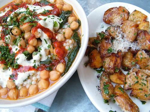 Chickpeas & Truffle Potatoes, MyLastBite.com