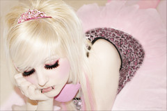 The Fatidic Princess (Ichi Cryptorchid) Tags: pink toxic eyelashes mask princess wreath ichi cryptorchid fatidic