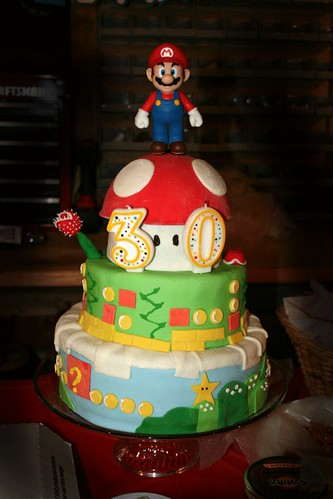 Super Mario Bros 3-tier cake