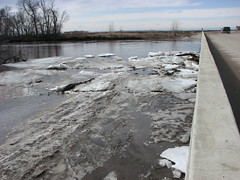 at the bolme bridge (pictureapromise) Tags: river spring flooding north northdakota abercrombie redriver dakota 2009 wildrice overland overlandflooding springflooding spring2009 abercrombiedakota