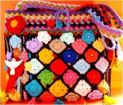 Festa do Divino (Lidia Luz) Tags: flower bag square handmade crochet afghan bolsa granny tapete tapestry divino croch divinoespritosanto lidialuz