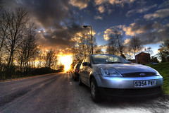 Towards the Last Rays (edmundlwk) Tags: sunset ford car coventry hdr universityofwarwick cryfield abigfave canon450d tokina1116mmf28 edmundlim