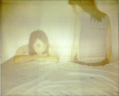 (Leanne Surfleet) Tags: selfportrait colour film polaroid doubleexposure spectra expired expired2005 leannesurfleet