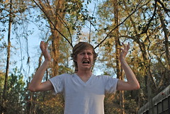 Day 3 120 (xcopelandx12) Tags: sky white shirt sticks pain branches sean antlers grimace day3 vneck