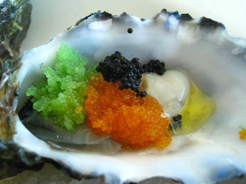 Oyster with Tobiko & Truffle Oil