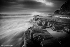 Turimetta Morning (-yury-) Tags: ocean longexposure sea seascape beach rock sunrise canon sydney australia nsw narrabeen monavale  mywinners abigfave anawesomeshot ultimateshot turimetta