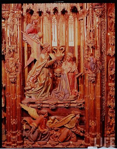 Detalle del altar mayor de la Catedral de Toledo en 1963. Fotografía de Dmitri Kessel. Revista Life (16)