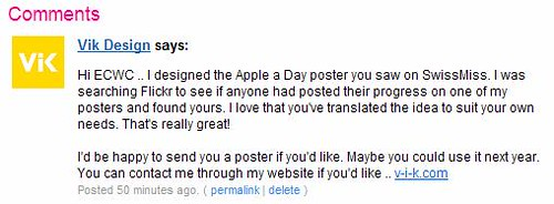 Apple A Day Comment by you.