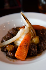 Alimentum - Beef Bourguignon with carrot and salsify (karohemd) Tags: cambridge food stew beef restaurants carrots finedining salsify alimentum