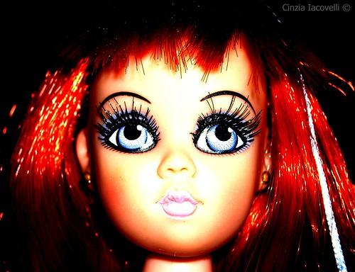 She's got big blue eyes