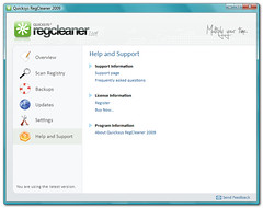 Quicksys RegCleaner - Help Window (quicksys) Tags: windows registry regcleaner regclean bmsoftware quicksys