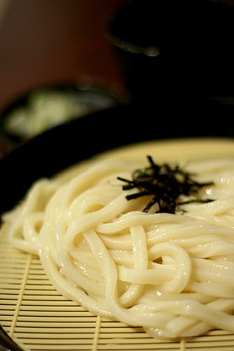 The udon is quite springy in texture
