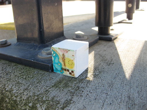 Miniature street art installation