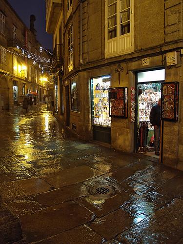 Calles de Santiago de Compostela Foto