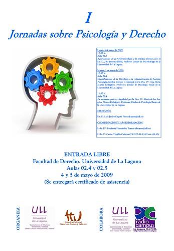 Cartel de las I Jornadas sobre Psicología y Derecho
