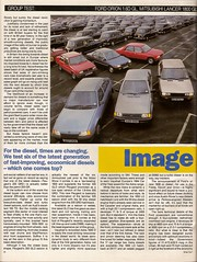 Mid Range Diesel Saloons Group Test 1985 1 (Trigger's Retro Road Tests!) Tags: test ford car magazine volkswagen diesel d group 1600 orion what jetta 1800 16 1985 range lancer mid cl mitsubishi peugeot ld astra vauxhall gl 305 saloons gld