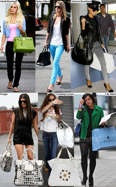 celebrities with their nice handbags by Fashion Clipping