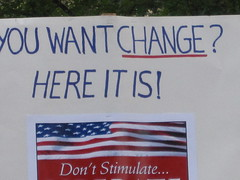 Tea Party Sign Want Change