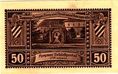 Hoym, 50 pf, 1921 (Iliazd) Tags: money germany graphicdesign notgeld papermoney germaninflationarycurrency emergencymoney 19171923 germanpapermoney