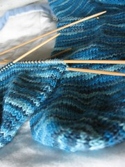 gusset heel sock 8 (by dyedinthewool)