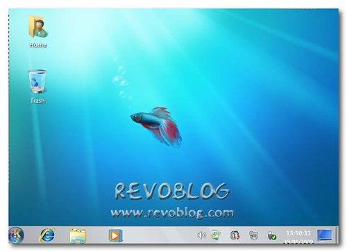 KDE con Tema Windows 7