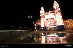 Luna Park (Kyaw Photography) Tags: reflection tripod sydney australia lunapark nightscene ultrawide milsonspoint efs1022mm radialmotionblur manualexposureblending canoneos50d photoshopcs3
