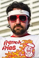 APG - Eric - French Fries (BlazinBajan) Tags: atlanta shirt matt outside glasses eyes sticker eric downtown models frenchfries esp headband mbp apg elliottstreetpub atlantaphotographersguild majorbphotography apg061609