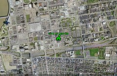 location of new HS in Columbus OH (underlying by Google Earth, marking by me)