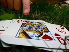 ERS playing cards (Kara Allyson) Tags: grass cards playingcards ers campwoodbrooke