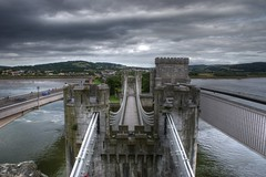 View From The Castle (Mortarman101) Tags: castle wales conway bridges hdr turrets conwy northwales photomatix anawesomeshot rocktheriverfestival
