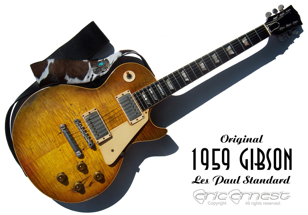 1959 Gibson Les Paul Standard guitar collection. Original vintage Burst. PAF pickups beautiful sunburst nitrocellulose lacquer finish. Jimmy Page & Billy Gibbons vibe! Vintage guitar authentication.
