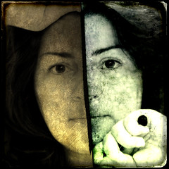 192/365 (Despina K.) Tags: texture love me photoshop canon selportrait despina seperate  192365    twoplaces  despinak