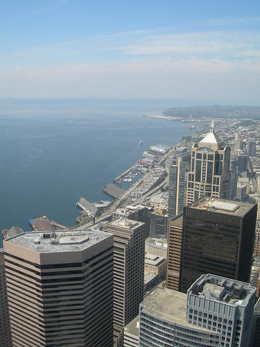 Seattle from the Observation deck of the Columbia Center