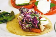 taco with slaw