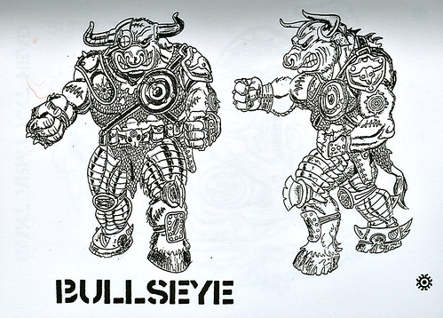 """Turtle Soup – Designs From The Classic TMNT Years""  the TMNT work of David Arshawsky :: Bullseye { Groundchuck }  (( 199x ))"