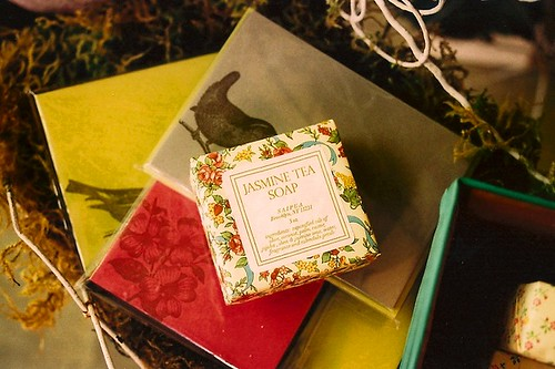 jasmine tea soap & beautiful paper.