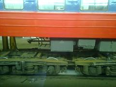 In Brest train depot