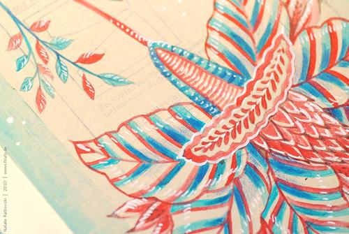My Moleskine paintings, detail
