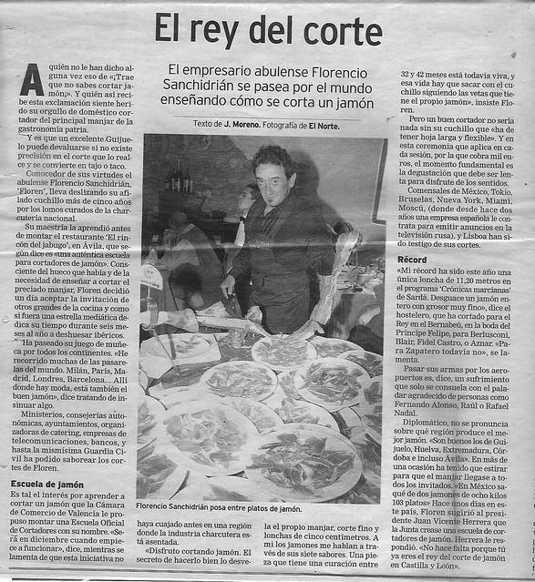 El Norte de Castilla 9 octubre 2005 by Real Jamn Ibrico