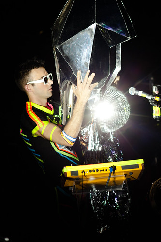 Sufjan Stevens in disco ball suit