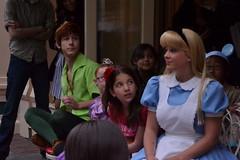 Disneyland Musical Chairs at the Corner Cafe (Castles, Capes & Clones) Tags: california alice disneyland peterpan disney anaheim aliceinwonderland mainstreetusa disneylandresort disneycharacters cornercafe disneylandcastmembers cocacolarefreshmentcorner disneylandrestaurants