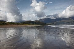 Western beach (Jerome Pouysegu) Tags: ocean ireland light sky beach nature beautiful clouds canon reflections landscape geotagged eos 50mm bay photo seaside sable sigma eire ciel land jerome 5d mm 50 nuage nuages paysage plage irlande baie lande pouysegu